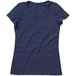 textil Mujer Camisetas manga corta Stedman Stars Lisa Azul Marino Jaspeado
