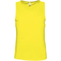 textil Hombre Camisetas sin mangas Sols 11465 Limón