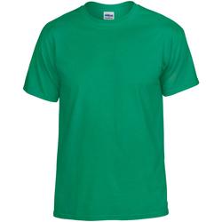 textil Hombre Camisetas manga corta Gildan DryBlend Verde irlandés