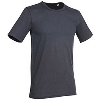 textil Hombre Camisetas manga corta Stedman Stars Morgan Gris Pizarra