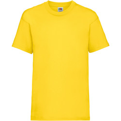 textil Niños Camisetas manga corta Fruit Of The Loom 61033 Amarillo