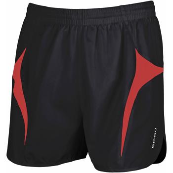 textil Hombre Shorts / Bermudas Spiro S183X Negro/Rojo