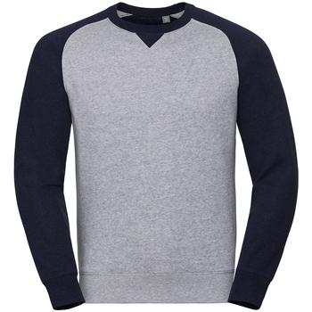 textil Hombre Sudaderas Russell R264M Oxford Claro/Índigo Jaspeado