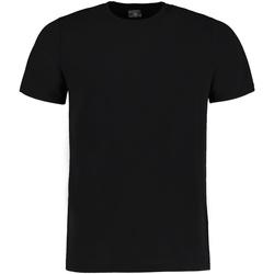 textil Camisetas manga corta Kustom Kit KK504 Negro Jaspeado