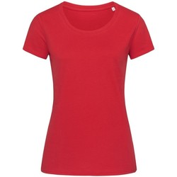 textil Mujer Camisetas manga corta Stedman Stars  Rojo Pimienta