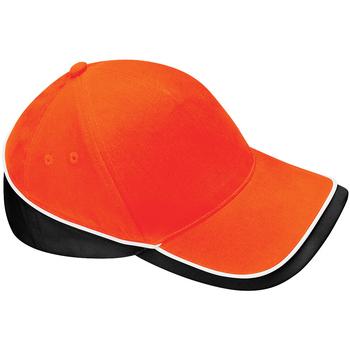 Accesorios textil Gorra Beechfield B171 Naranja/Negro/Blanco
