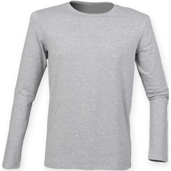 textil Hombre Camisetas manga larga Skinni Fit SF124 Gris