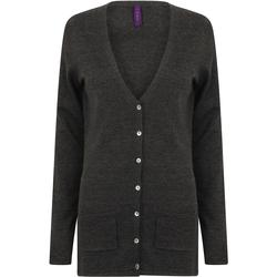 textil Mujer Chaquetas de punto Henbury Fine Knit Gris piedra