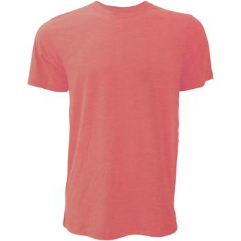 textil Hombre Camisetas manga corta Bella + Canvas CA3001 Rojo Jaspeado