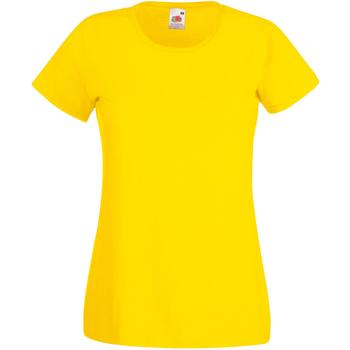 textil Mujer Camisetas manga corta Universal Textiles 61372 Amarillo Brillante