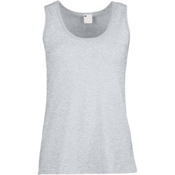 textil Mujer Camisetas sin mangas Universal Textiles Fitted Gris piedra