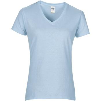 textil Mujer Camisetas manga corta Gildan GD015 Azul claro