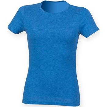 textil Mujer Camisetas manga corta Skinni Fit SK161 Azul