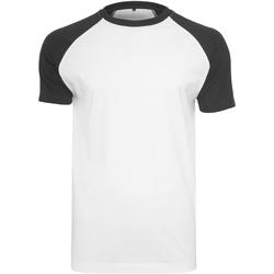 textil Hombre Camisetas manga corta Build Your Brand BY007 Blanco/Negro