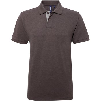 textil Hombre Polos manga corta Asquith & Fox AQ012 Carbón/gris
