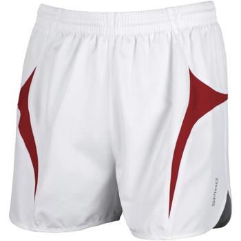 textil Hombre Shorts / Bermudas Spiro S183X Blanco/Rojo