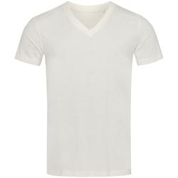 textil Hombre Camisetas manga corta Stedman Stars  Blanco Invierno
