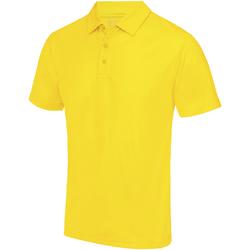 textil Hombre Polos manga corta Awdis JC040 amarillo sol