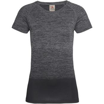 textil Mujer Camisetas manga corta Stedman  Transición Gris Oscuro