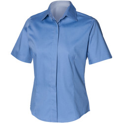 textil Hombre Camisas manga corta Henbury HB556 Azul corporativo