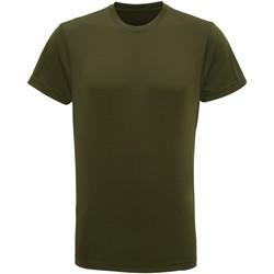 textil Hombre Camisetas manga corta Tridri TR010 Oliva