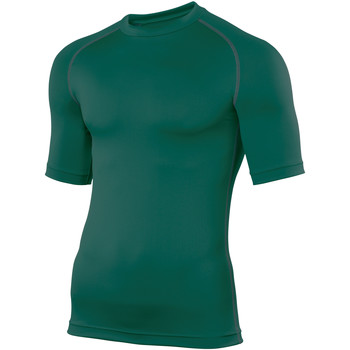textil Hombre Camisetas manga corta Rhino RH002 Verde botella