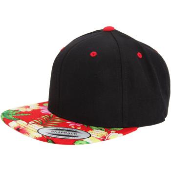 Accesorios textil Gorra Yupoong YP003 Negro/Rojo floral