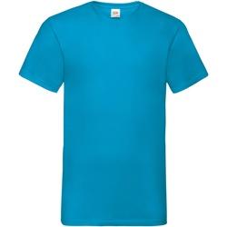textil Hombre Camisetas manga corta Fruit Of The Loom 61066 Azul celeste
