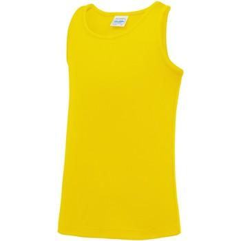 textil Niños Camisetas sin mangas Awdis JC07J Amarillo