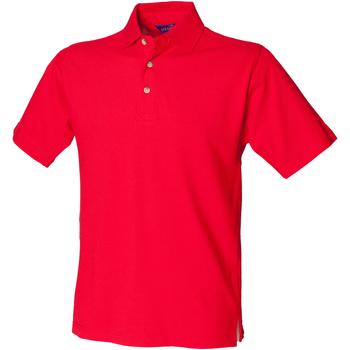 textil Hombre Polos manga corta Henbury HB100 Rojo