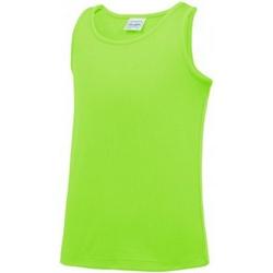 textil Niños Camisetas sin mangas Awdis JC007B Verde Eléctrico