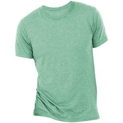 textil Hombre Camisetas manga corta Bella + Canvas CA3413 Verde Mar Triblend