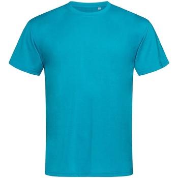 textil Hombre Camisetas manga corta Stedman  Azul Hawaii