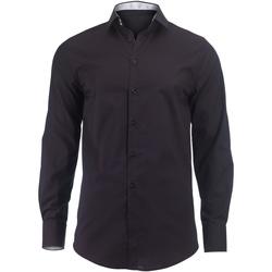 textil Hombre Camisas manga larga Alexandra Hospitality Negro/Blanco