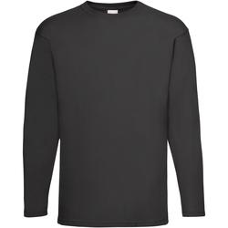 textil Hombre Camisetas manga larga Universal Textiles 61038 Negro azabache