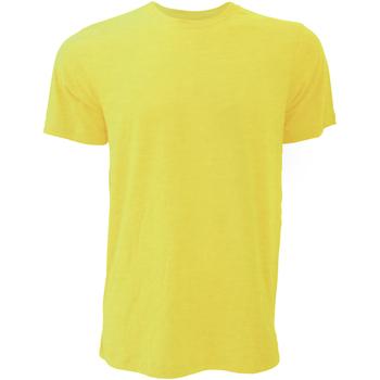 textil Hombre Camisetas manga corta Bella + Canvas CA3001 Amarillo Oro Jaspeado