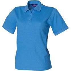 textil Mujer Polos manga corta Henbury HB401 Azul medio