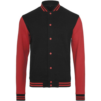 textil Hombre cazadoras Build Your Brand BY015 Negro/Rojo