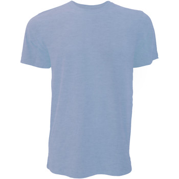 textil Hombre Camisetas manga corta Bella + Canvas CA3001 Azul Jaspeado
