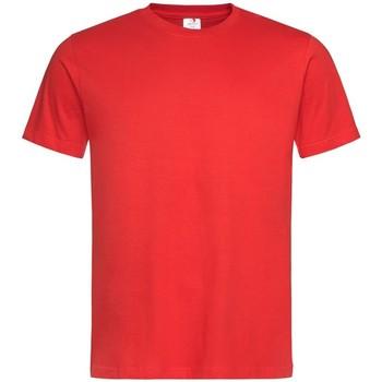 textil Hombre Camisetas manga corta Stedman  Rojo Escarlata