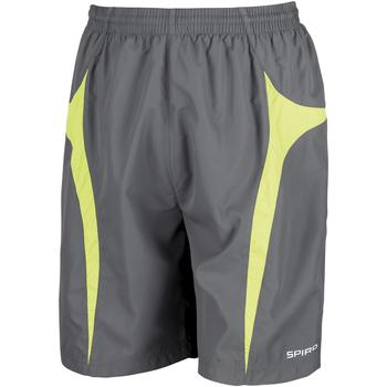 textil Hombre Shorts / Bermudas Spiro S184X Gris/ Verde lima