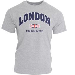 textil Hombre Camisetas manga corta England  Gris deportivo