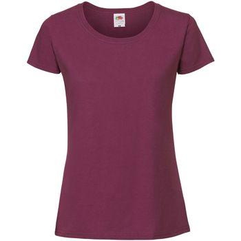 textil Mujer Camisetas manga corta Fruit Of The Loom SS424 Vino