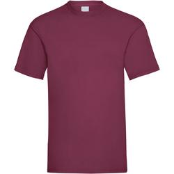 textil Hombre Camisetas manga corta Universal Textiles 61036 Guinda