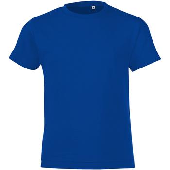 textil Niño Camisetas manga corta Sols 01183 Azul eléctrico