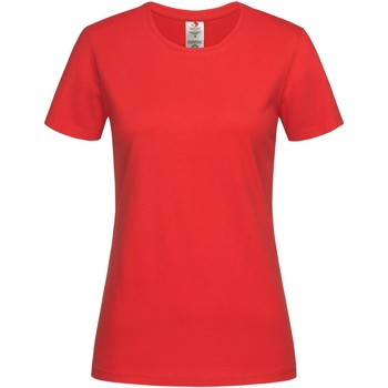 textil Mujer Camisetas manga corta Stedman  Rojo Escarlata