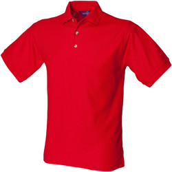 textil Hombre Polos manga corta Henbury HB410 Rojo