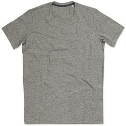 textil Mujer Camisetas manga corta Stedman Stars Claire Gris Jaspeado