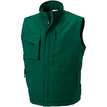 textil Hombre Chaquetas de punto Russell 014M Verde botella