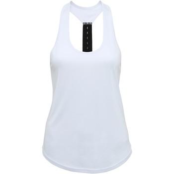 textil Mujer Camisetas sin mangas Tridri TR027 Blanco